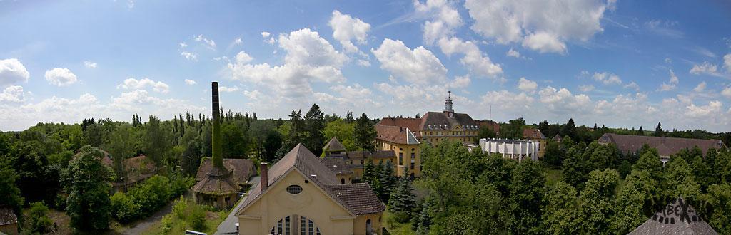 Panoramablick vom Dach des Offizierspeisehauses